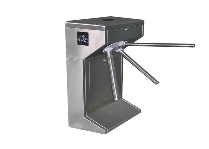 Entrance Control Tripod Turnstile Gate , Waist Height Pedestrian Turnstile