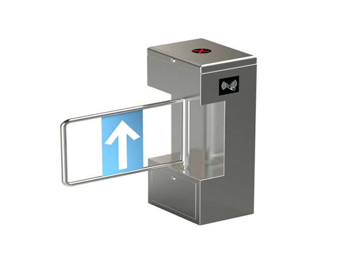 Electronic Steel 24V DC Motor Auto Swing Gate Turnstile Waist Height With RFID Reader