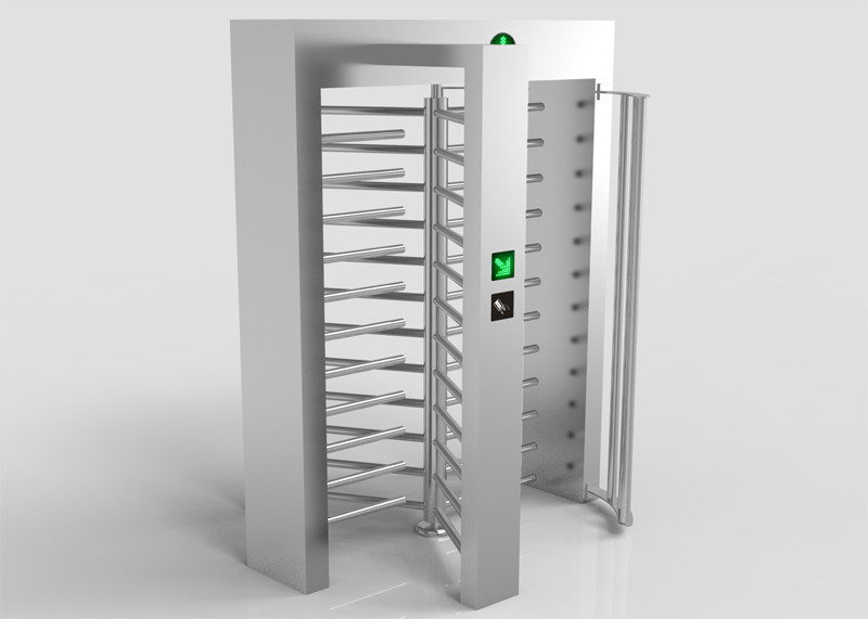 120 Degree Full Height Turnstile Gate System 30 Person Per Minute Passing Rate