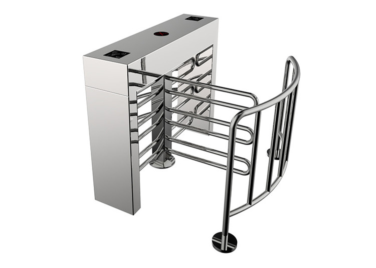 Access Control System Turnstile Entrance Gates Integrated Security U Shape Wing