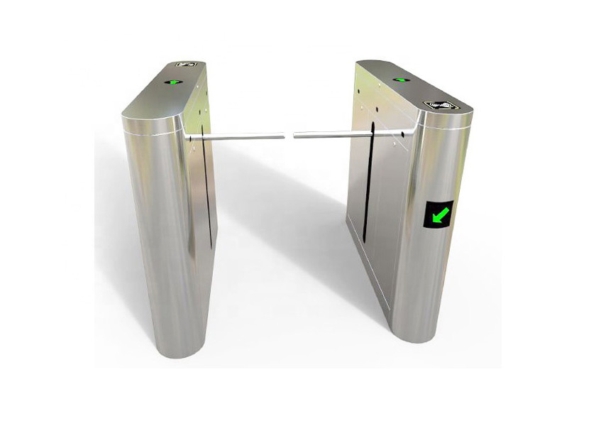 Bi-directional bridge type 1000mm channel width flow control single arm turnstile gate